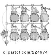 Royalty Free RF Clipart Illustration Of A Gas Meter Header 1 by djart