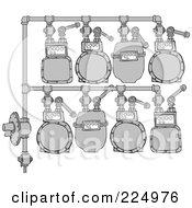 Royalty Free RF Clipart Illustration Of A Gas Meter Header 2 by djart