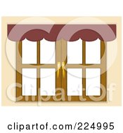 Royalty Free RF Clipart Illustration Of A Valance Above A Window Against White