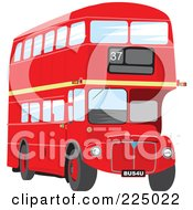 Royalty Free RF Clipart Illustration Of A Double Decker