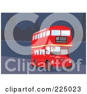Royalty Free RF Clipart Illustration Of A Double Decker In London