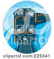 Royalty Free RF Clipart Illustration Of A Blue Oval Diesel Train Logo