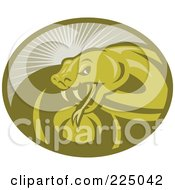 Royalty Free RF Clipart Illustration Of A Green Viper Snake Logo