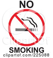 Royalty Free RF Clipart Illustration Of A No Smoking Prohibited Sign by Prawny