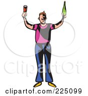 Royalty Free RF Clipart Illustration Of A Whimsy Party Guy