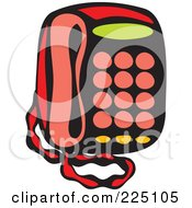 Royalty Free RF Clipart Illustration Of A Whimsy Desk Phone