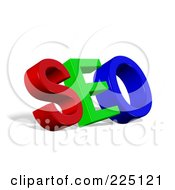 Royalty Free RF Clipart Illustration Of A 3d Red Green And Blue SEO