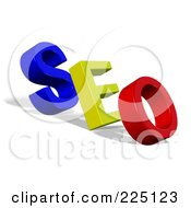 Royalty Free RF Clipart Illustration Of A 3d Red Yellow And Blue SEO
