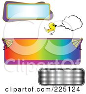 Royalty Free RF Clipart Illustration Of A Digital Collage Of Text Frame Designs