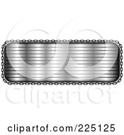 Royalty Free RF Clipart Illustration Of A Silver Text Frame Bordered In Chains by tdoes