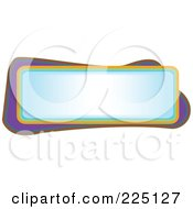 Royalty Free RF Clipart Illustration Of A Blue Text Frame Bordered In Colorful Lines by tdoes