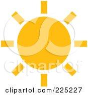 Simple Orange Sun