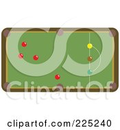 Royalty Free RF Clipart Illustration Of A Snooker Table With Colorful Balls 1 by Prawny