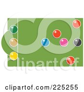 Royalty Free RF Clipart Illustration Of A Snooker Table With Colorful Balls 2 by Prawny