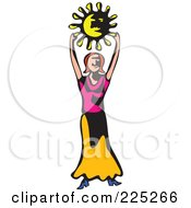 Whimsy Woman Holding A Sun