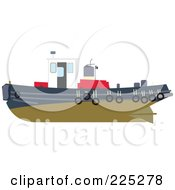 Royalty Free RF Clipart Illustration Of A Tug Boat