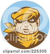 Royalty Free RF Clipart Illustration Of A Retro Styled Robber Logo