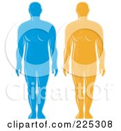 Royalty Free RF Clipart Illustration Of A Digital Collage Of Blue And Orange Male Body Logos by patrimonio