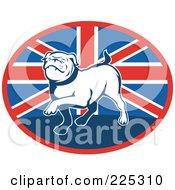 Royalty Free RF Clipart Illustration Of A British Bulldog Logo