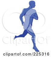 Royalty Free RF Clipart Illustration Of A Running Male Logo
