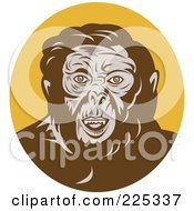 Royalty Free RF Clipart Illustration Of An Ape Man Logo
