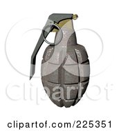 Royalty Free RF Clipart Illustration Of A 3d Rusty Grenade by patrimonio