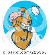 Royalty Free RF Clipart Illustration Of A Dog Showering Logo