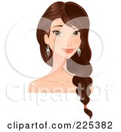 Royalty Free RF Clipart Illustration Of A Pretty Sioux Woman With Long Beautiful Hair by Melisende Vector