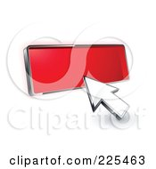 Royalty Free RF Clipart Illustration Of A 3d Arrow Cursor Clicking On A Blank Red Button