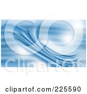 Royalty Free RF Clipart Illustration Of A Blue Flowing Background