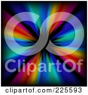 Royalty Free RF Clipart Illustration Of A Colorful Tunnel Or Burst Background by KJ Pargeter