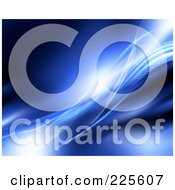 Royalty Free RF Clipart Illustration Of A 3d Blue Background Of Mesh Waves And Lights