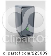 Royalty Free RF Clipart Illustration Of A 3d External Hard Drive With A Green Light