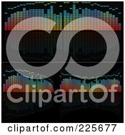 Royalty Free RF Clipart Illustration Of A Digital Collage Of Colorful Analyzer Equalizers On Black