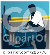 Royalty Free RF Clipart Illustration Of A Working Tire Mechanic