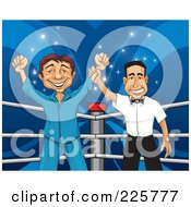 Royalty Free RF Clipart Illustration Of A Proud Man In A Ring