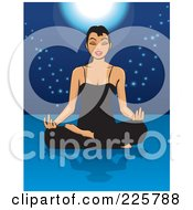 Royalty Free RF Clipart Illustration Of A Relaxed Woman Meditating On The Floor