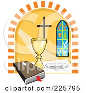 Royalty Free RF Clipart Illustration Of A Holy Communion