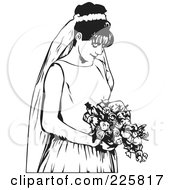 Royalty Free RF Clipart Illustration Of A Black And White Bride