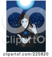 Royalty Free RF Clipart Illustration Of A Cloaked Fortune Teller