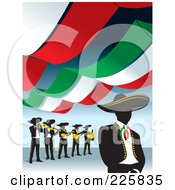 Mariachi Band Under Banners