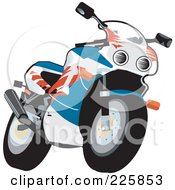 Royalty Free RF Clipart Illustration Of A Fireblade Bike