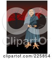 Royalty Free RF Clipart Illustration Of A Mexican Witch