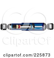 Royalty Free RF Clipart Illustration Of A Blue Shock Diagram