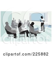Royalty Free RF Clipart Illustration Of Students And Teacher In A Classroom