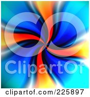 Royalty Free RF Clipart Illustration Of A Swirling Vortex Of Blue And Orange