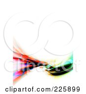 Royalty Free RF Clipart Illustration Of A Funky Rainbow Swoosh With White Copyspace