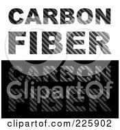 Royalty Free RF Clipart Illustration Of A Digital Collage Of The Words Carbon Fiber On White And Black by Arena Creative