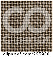 Royalty Free RF Clipart Illustration Of A Seamless Cloth Rope Weave Texture Background