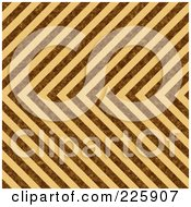 Royalty Free RF Clipart Illustration Of A Seamless Brown Background Of Stripes